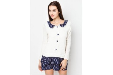 VnJ Long Sleeve Front Lace Placket Top