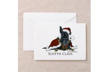 Santa Claus Pets Greeting Cards Pk of 10 by CafePress