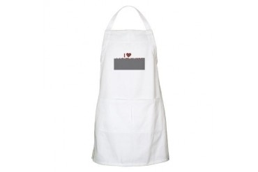 I Love Lighthouses BBQ Hobbies Apron by CafePress