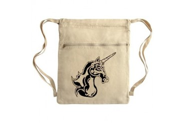 Unicorn 2 Sack Pack Art Cinch Sack by CafePress