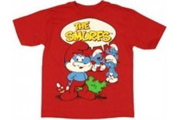 Smurfs Logo Chat Bubble Juvenile T-Shirt