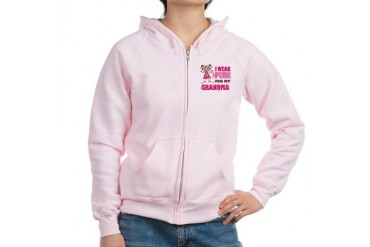 Wear Pink 4 Grandma Family Women's Zip Hoodie by CafePress