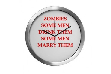 zombies Funny Modern Wall Clock by CafePress