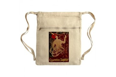 Cigarettes Saphir Sack Pack Art deco Cinch Sack by CafePress