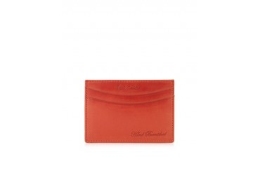 Red Hand Burnished Leather Credit Card Holder