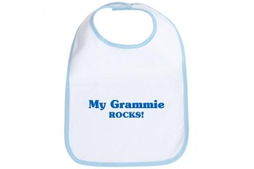 Grammie Rocks Family Bib by CafePress