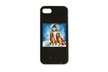 Golden Retriever Christmas Art iPhone Charger Case by CafePress