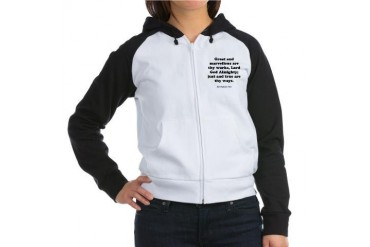 Revelation 15:3 Christian Women's Raglan Hoodie by CafePress