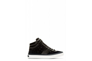 Jimmy Choo Black And Navy Glitter Stars Belgravi High top Sneakers