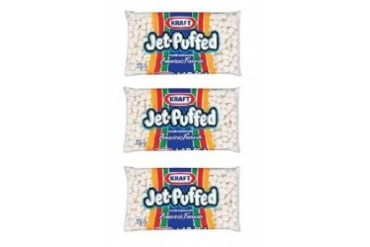 Kraft Jet Puffed Miniature Marshmallows 3 Bag Pack
