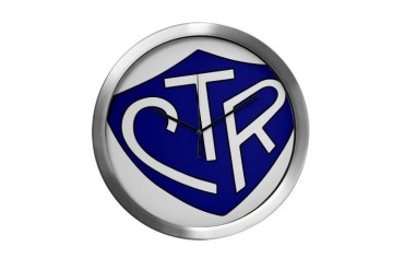 CTR Ring Shield Blue Blue Modern Wall Clock by CafePress