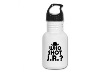 'Who Shot J.R.?' Tv Kid's Water Bottle by CafePress