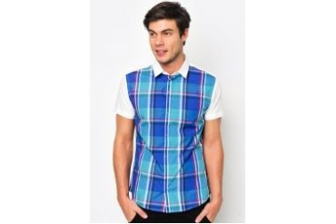 FMS by Radioactive Front Large Plaid Short Sleeve Shirt