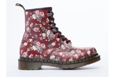 Dr. Martens 8 Eye Boot in Cherry Red Vintage Rose size 9.0