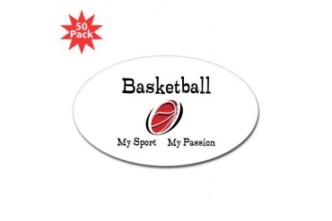 Basketball My Sport My Passion Sticker Oval 50 pk Sports Sticker Oval 50 pk by CafePress