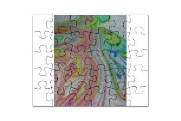 Follow the Rainbow Road Art Puzzle by CafePress