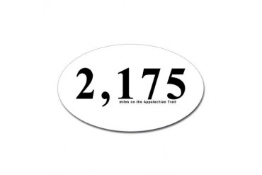 2175 Appalachian Trail Miles Oval Sticker