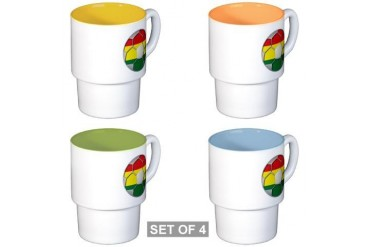 Bolivia Flag World Cup Soccer Football Futbol Ball Soccer Stackable Mug Set 4 mugs by CafePress