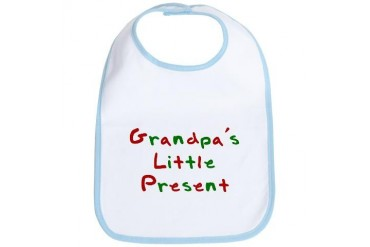 Grandpa's Little Present Pets Bib by CafePress