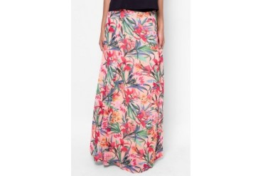 Carla Flower Print Long Skirt