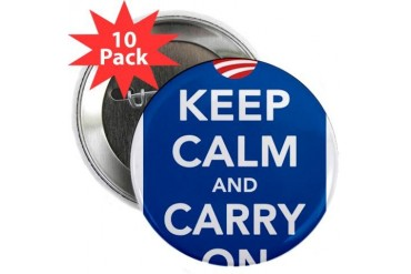 Keep Calm Democrats Obama 2.25 Button 10 pack by CafePress