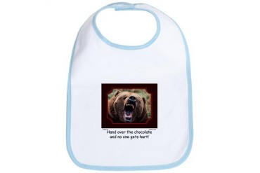 Hand Over The Chocolate Bear Funny Bib by CafePress