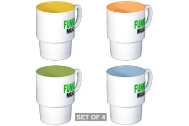 FUNNY MUG Funny Stackable Mug Set 4 mugs by CafePress