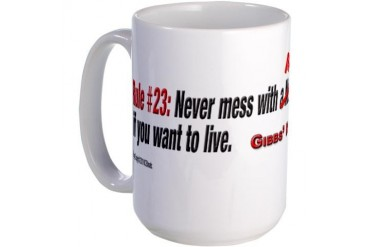 NCIS GIBBS' RULE #23 - My Coffee - Large Mug