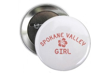 Spokane Valley Pink Girl Location 2.25 Button by CafePress
