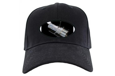 Hubble Space Telescope Space Black Cap by CafePress