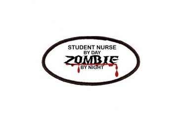 Student Nurse Zombie Nurse Patches by CafePress