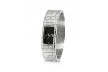 Circum - Black Dial Stainless Steel Small Cuff Watch