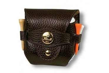 Dark Brown Leather Golfball Holder