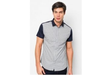 FMS by Radioactive Front Plaid Short Sleeve Shirt