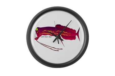 Deep Sea Dragonfish Teeth Large Wall Clock by CafePress