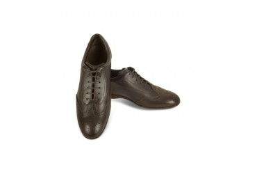 Dark Brown Leather Wingtip Sneaker Shoes