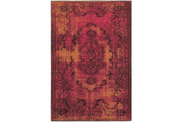 Sphinx Revival Traditional-Persian Oriental Pink Medallion Curls Area Rug