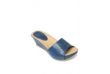Blue Brielle Wedges Slide