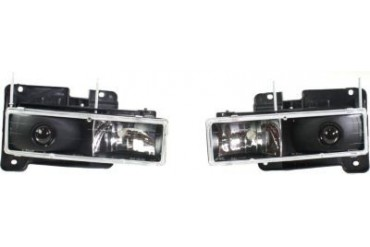 1988-1999 Chevrolet C1500 Headlight StyleLine Chevrolet Headlight CV8802CCHL3 88 89 90 91 92 93 94 95 96 97 98 99