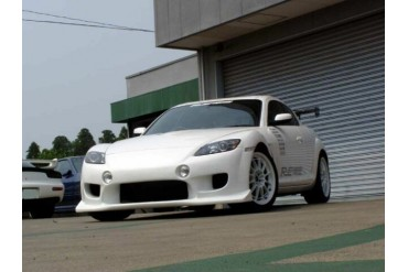 RE Amemiya AD Eight Facer Front Bumper with Fog Lights Mazda RX-8 03-11