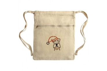 xmas dog.jpg Sack Pack Art Cinch Sack by CafePress