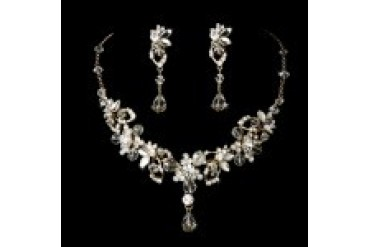 Elegance By Carbonneau Necklace & Earring Set - Style NE8308-Gold