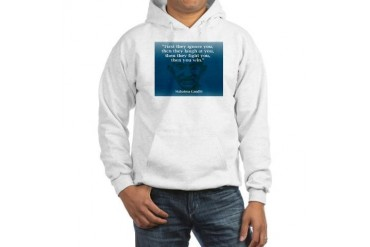 GANDHI - FIRST THEY IGNORE YO Peace Hooded Sweatshirt by CafePress