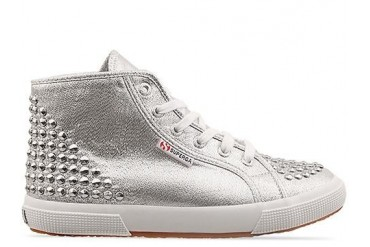 Superga 2095 Lame Studs in Silver size 9.5