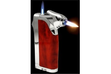 Superb Multi Flame Cigar Lighter With Cigar Punch