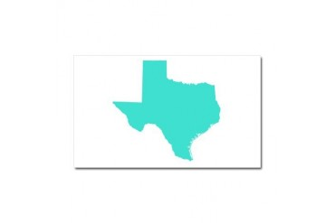 Texas Outline Turquoise Texas Car Magnet 20 x 12 by CafePress