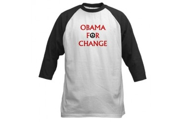 Obama for Change (Peace) Baseball Jersey