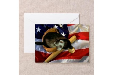Ferret Baseball Pets Greeting Cards Pk of 10 by CafePress