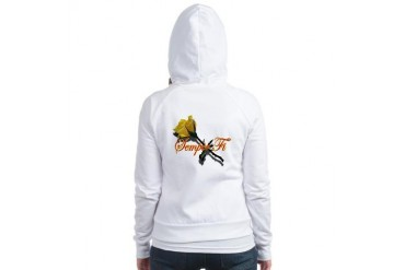 Semper Fi Yellow Rose Military Jr. Hoodie by CafePress