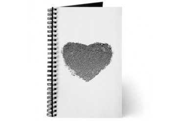 Silver Heart Romance Journal by CafePress